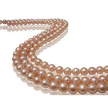 小樂珠寶 超稀有天然珍珠項鍊-百變粉色