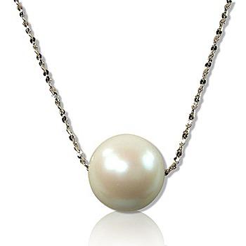 小樂珠寶 3A南洋深海貝珍珠墬子 超美白色