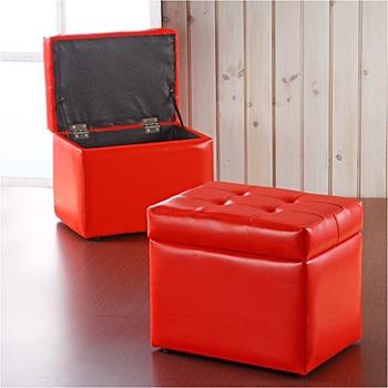 <歐拉>沙發收納椅(貴族紅)