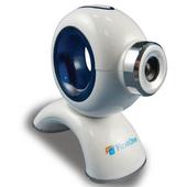 《FirstOne》酷炫幽浮網路攝影機360度旋轉設計(優雅白)