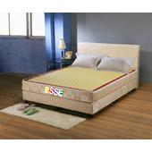 《ESSE御璽名床》【蓆面+布面冬夏兩面】健康2.3硬式床墊 3.5x6.2 尺 -單人