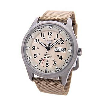SEIKO 5號新世代陸戰隊帆布機械錶(SNZG07 卡其色)