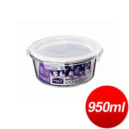 樂扣樂扣 玻璃保鮮盒圓型(950ML)