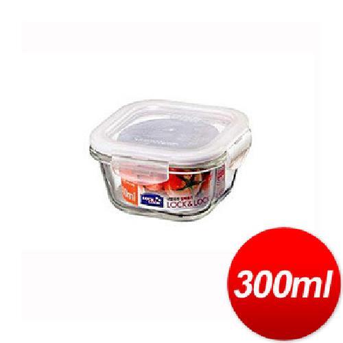 樂扣樂扣 玻璃保鮮盒方型(300ml)