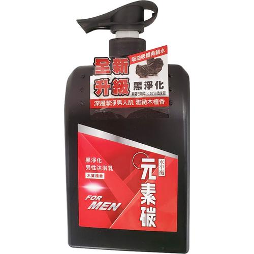 《水平衡》元素碳男性沐浴乳-檀香制菌(800g/瓶)