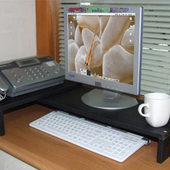 《C&B》格林寬度可調式桌上置物架(黑色)