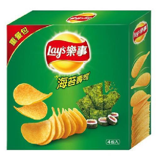 《Lay's樂事》家庭號海苔壽司洋芋片(260g/盒)