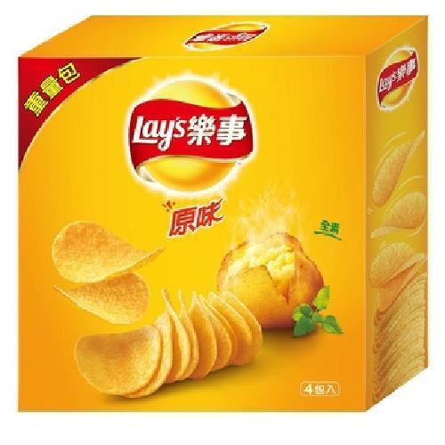 《Lay's樂事》家庭號原味洋芋片(260g/盒)