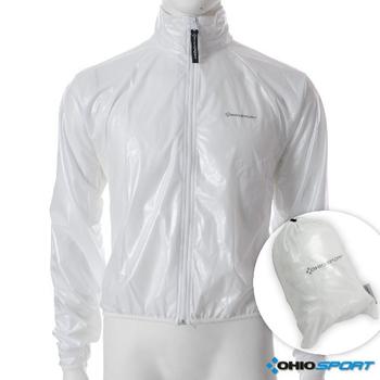 OHIOSPORT 專業防水透濕輕量風衣-白色(S碼)