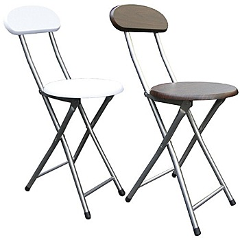 《頂堅》木製高背椅座-折疊椅子(4入/組)[二色提供選擇](素雅白色)