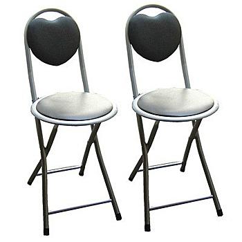 頂堅 [4件組]室內/室外高背折疊椅(四入)-黑色(黑色(四入))