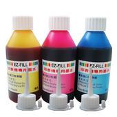 《EZ-FILL》適用EPSON 印表機專用墨水100c.c(印表機專用墨水100c.c---紅/黃/藍色)