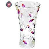 《Beauti-Eagle》水晶玻璃紫色彩色樹葉花瓶(612113MZ)