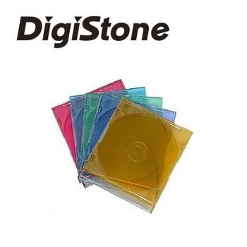 DigiStone單片超薄 5 mm CD/DVD硬殼收納盒/五彩顏色 25PCS=>台灣精品,台灣製造!!