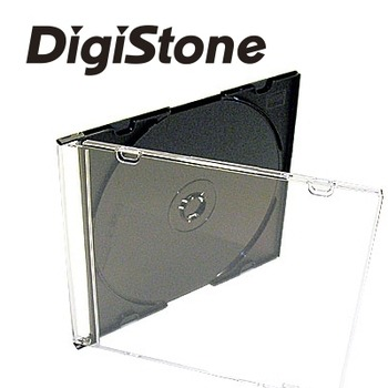 DigiStone單片超薄 5 mm CD/DVD硬殼收納盒/黑色 25PCS=>台灣精品,台灣製造!!