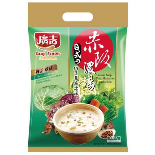 《廣吉》赤阪濃湯-納豆蕈菇(20gx10包/袋)