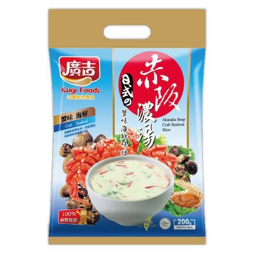 《廣吉》赤阪濃湯-蟹肉海鮮味噌(20gx10包/袋)