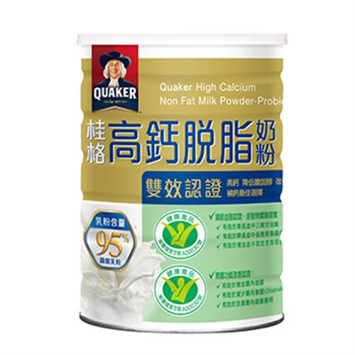 桂格 高鈣脫脂雙認證奶粉(750g/罐)