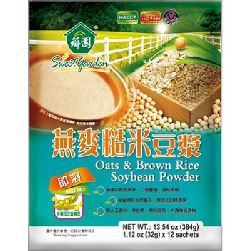 薌園 燕麥糙米豆漿(32gx12包/袋)