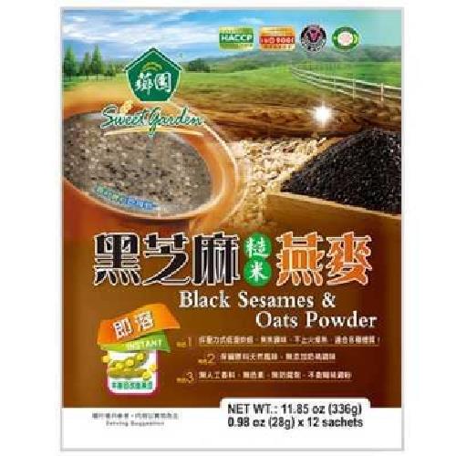 薌園 黑芝麻糙米燕麥(28gx12包/袋)