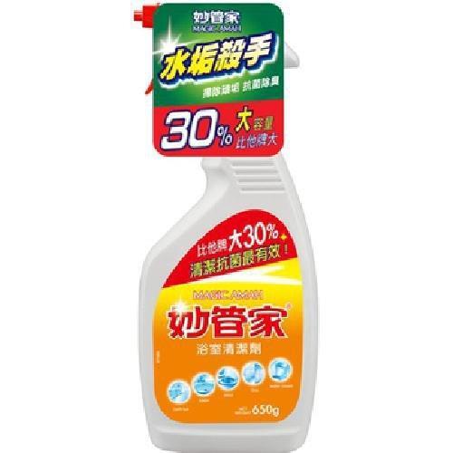 《妙管家》檸檬浴室清潔劑(650gm/瓶)