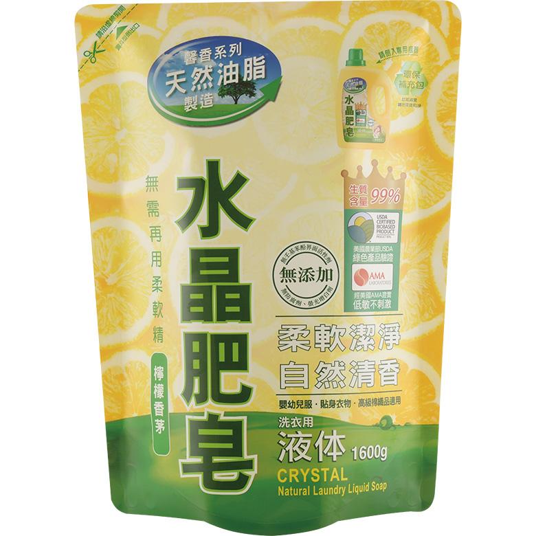 《南僑》水晶肥皂液體補充包1.6L/包 $129