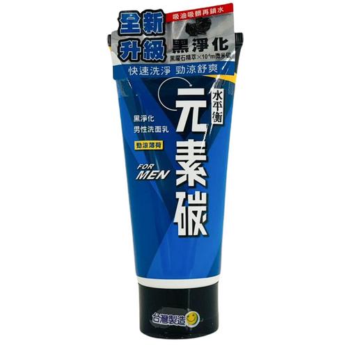 《水平衡》元素碳男性洗面乳-淨涼薄荷(100g/瓶)