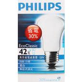 《飛利浦》真亮省電鹵素燈-柔光偏黃光(E27 42瓦)