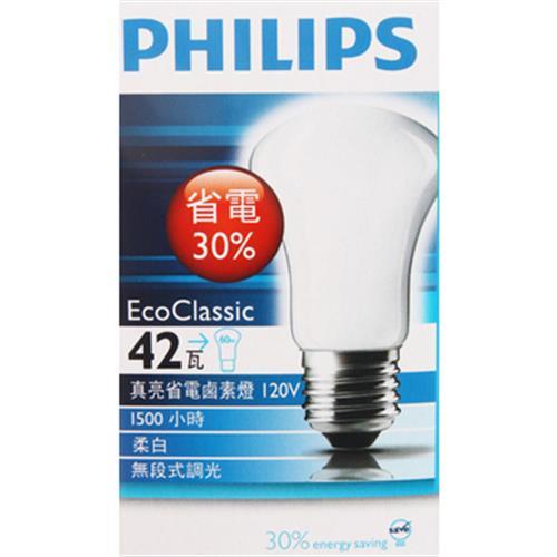 飛利浦 真亮省電鹵素燈(E27 42瓦)