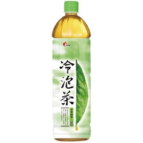 光泉 冷泡茶-冷萃綠茶(無糖)(1235ml/瓶)