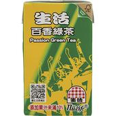 《生活》泡沫百香綠茶(250mlx24包/箱)