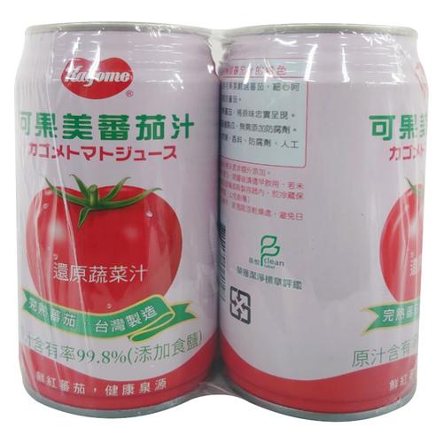《可果美》蕃茄汁(有鹽)(340ml*4罐/組)