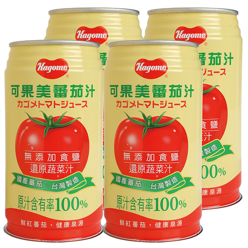 可果美 蕃茄汁(無鹽)(340ml*4罐/組)