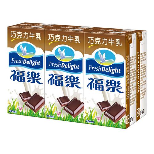 福樂 巧克力保久乳(200ml*6包/組)