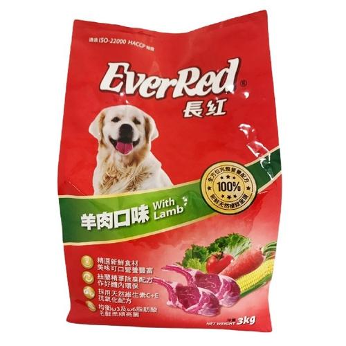 《長紅》狗乾糧-羊肉(3kg/包)
