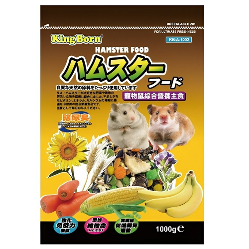 《KB》寵物鼠綜合營養主食(1000g/包)