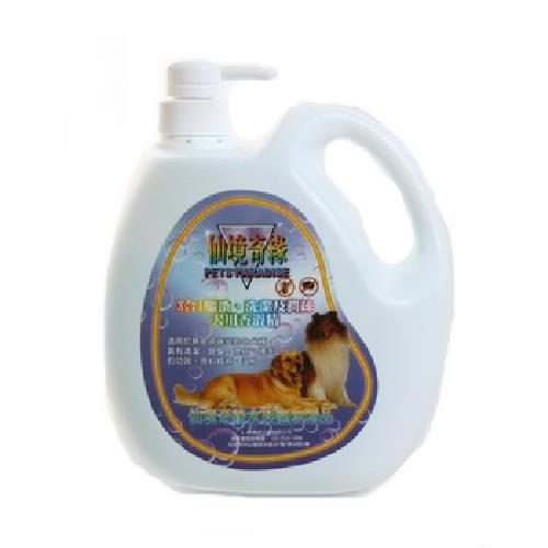 《仙境奇緣》3合1驅蚤洗潔潤絲犬用香浴精(2000ml/瓶)