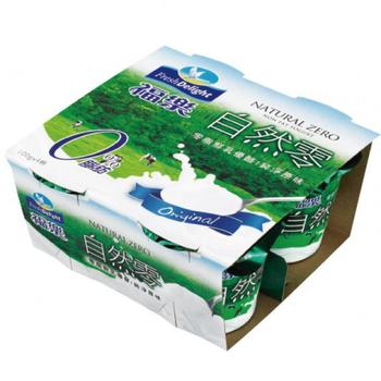 福樂 自然零鮮乳優酪(100g*4杯/組)
