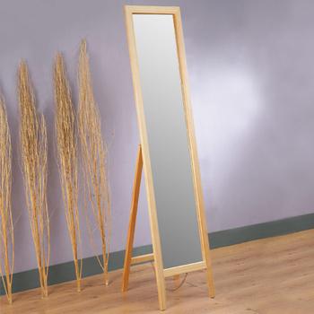 Homelike 自然原味松木穿衣鏡(A)