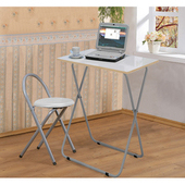 《C&B》靜岡摺疊桌椅組(一桌 + 一椅)(白色桌面)