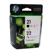 《HP》HP CC630AA NO.21+NO.22墨水匣組合包(HP NO.21+NO.22 (黑+彩)墨水匣組合包)