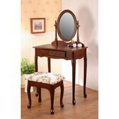 《C&B》法式梳妝桌椅組(櫻桃色)
