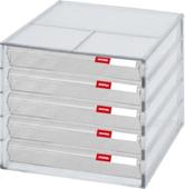 《樹德》桌上型A4資料櫃 5抽 / 顏色黑白隨機出貨(DD-105P / 250W*340D*230H mm)