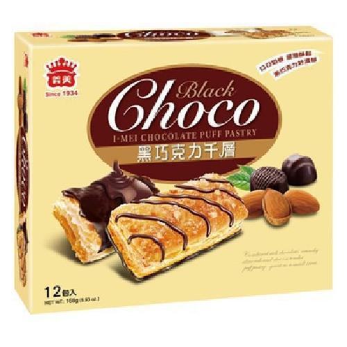 義美 巧克力千層派-黑巧克力(168g/盒)