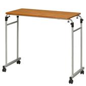 《C&B》森田伸縮式活動床邊桌(深木紋桌板)