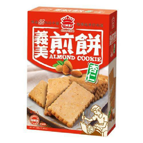 義美 煎餅量販盒-杏仁(240g/盒)