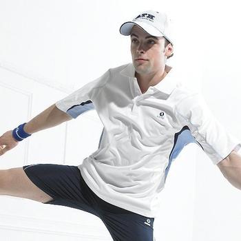 SASAKI 吸濕排汗網球短衫 白(2XL)