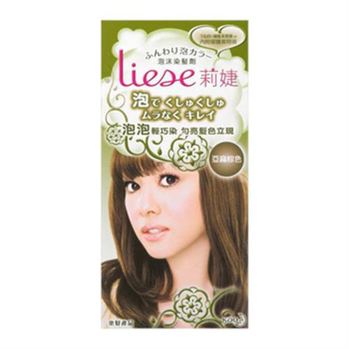 莉婕 泡沫染髮劑-亞麻棕色(66ml+34ml+8g/盒)