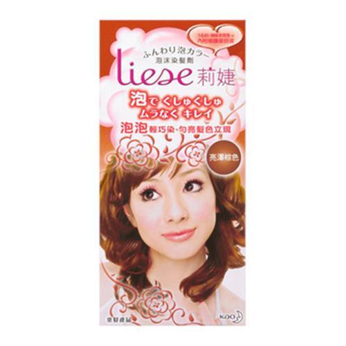 莉婕 泡沫染髮劑-亮澤棕色(60ml+40ml+4ml/盒)