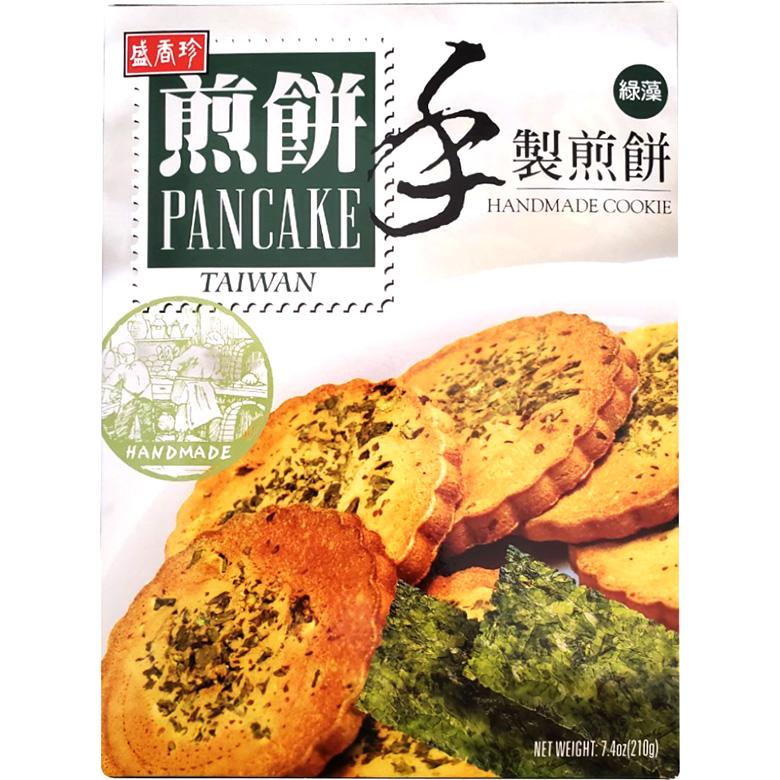 盛香珍 手製煎餅 綠藻(210g/盒)